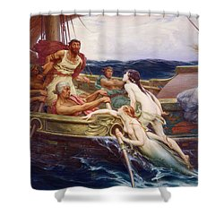 Ulysses And The Sirens Shower Curtain by Herbert James Draper
