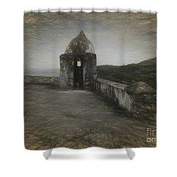 Umatac Guam- Spanish Lookout Shower Curtain