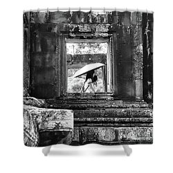 Umbrella Angkor Wat  Shower Curtain