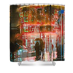 Shower Curtain featuring the photograph Umbrellas Are For Sharing by LemonArt Photography