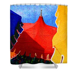 Umbrella Party Shower Curtain by Paul Wear