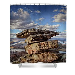 Umbrella Rock Overlooking Moccasin Bend Shower Curtain