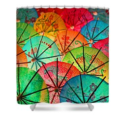 Umbrellas Galore Shower Curtain by Bobby Villapando