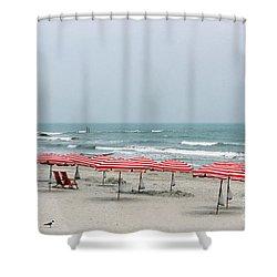 Umbrellas Waiting Shower Curtain