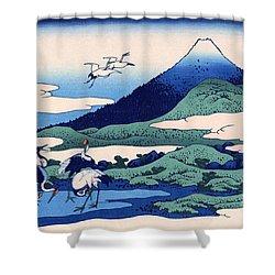 Umegawa In Sagami Province Shower Curtain