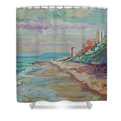 Umhlanga Light House And Beach Shower Curtain