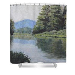 Umpqua River Shower Curtain
