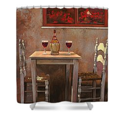 un fiasco di Chianti Shower Curtain by Guido Borelli