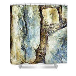 Shower Curtain featuring the painting Un Murmure D Ange Tranquillement by Sir Josef - Social Critic - ART
