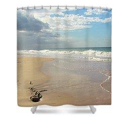 Un Paseo En La Playa Shower Curtain