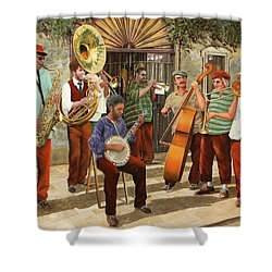 Un Po' Di Jazz Shower Curtain