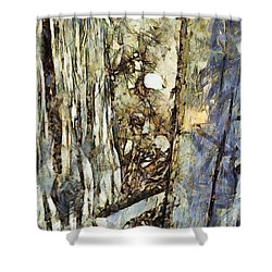 Shower Curtain featuring the painting Una Storia Da Raccontare by Sir Josef - Social Critic - ART