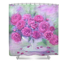 Armchair Rose Garden Shower Curtain