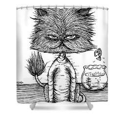 Unbalance Cat Shower Curtain