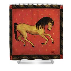 Unbridled ... From The Tapestry Series Shower Curtain by Terry Webb Harshman