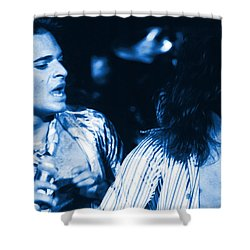 Unchained Blues Shower Curtain by Ben Upham