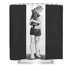 Shower Curtain featuring the painting Uncle George by Ferrel Cordle