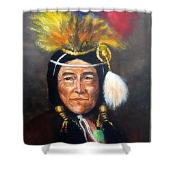 Uncle Joe Shower Curtain by Lee Piper