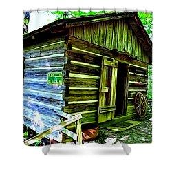 Uncle John's Cabin Shower Curtain