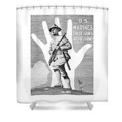 Uncle Sam's Right Hand - Us Marines Shower Curtain