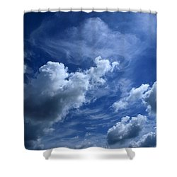 Unclouded Mind Shower Curtain