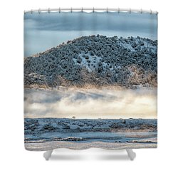 Uncompaghre Valley Fog Shower Curtain
