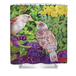 Unconditional Love Shower Curtain by Judy Mercer