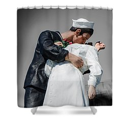 Unconditional Surrender 1 Shower Curtain by Susan  McMenamin