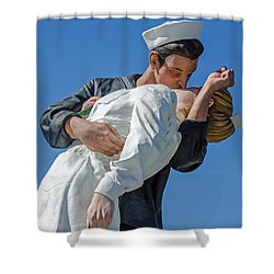 Unconditional Surrender 2 Shower Curtain by Susan  McMenamin