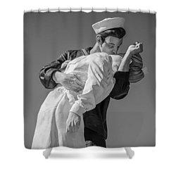 Unconditional Surrender 3 Shower Curtain by Susan  McMenamin