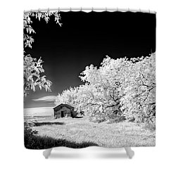 Shower Curtain featuring the photograph Under A Dark Sky by Dan Jurak