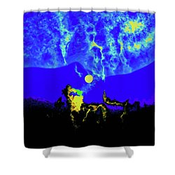 Under A Full Moon Shower Curtain