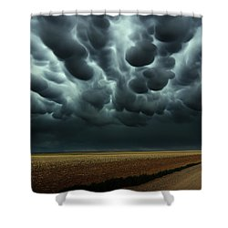 Under A Mammatus Sky Shower Curtain