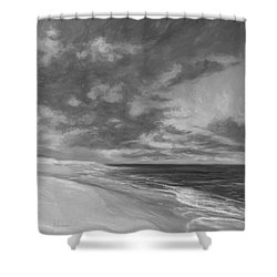 Under A Painted Sky - Black And White Shower Curtain
