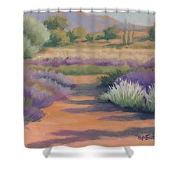 Under A Summer Sun In Lavender Fields Shower Curtain