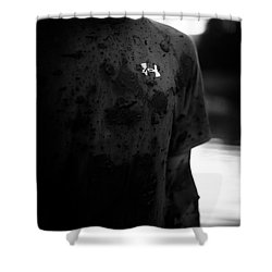 Under Armour Black And White Shower Curtain by Scott Sawyer