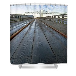 Under Astoria Megler Bridge On Riverwalk Shower Curtain