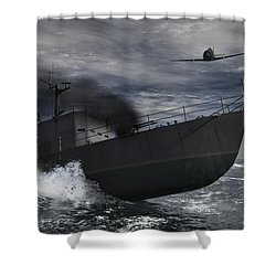Under Attack Shower Curtain by Richard Rizzo