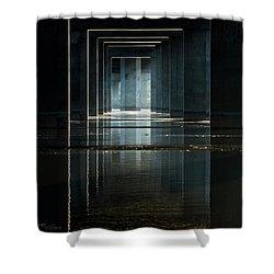 Under Clark Bridge Shower Curtain by Jae Mishra