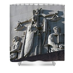Under Scales Of Justice Shower Curtain