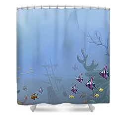 Under Sea 01 Shower Curtain