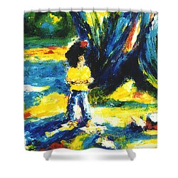 Under The Banyan Tree#201 Shower Curtain by Donald k Hall