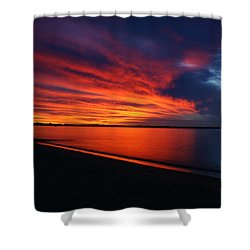 Under The Blood Red Sky Shower Curtain by Gary Crockett