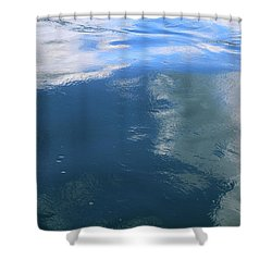 Under The Blue Water 10 Shower Curtain