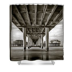 Under The Boardwalk Shower Curtain by Dave Bowman