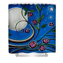 Under The Glowing Moon Shower Curtain