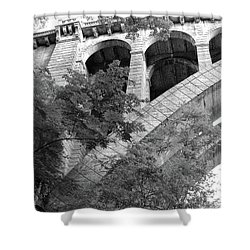 Shower Curtain featuring the photograph Under The Henry Avenue Brudge by Bill Cannon