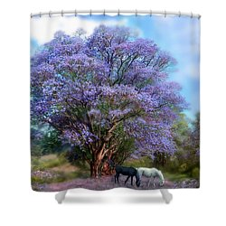 Under The Jacaranda Shower Curtain