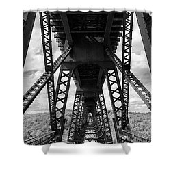 Under The Kinzua Bridge In Black And White Shower Curtain