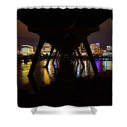 Under The Manchester Bridge Shower Curtain